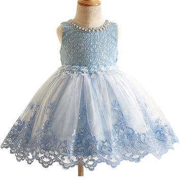 1 Princess Sleeveless Floral Tutu Dress