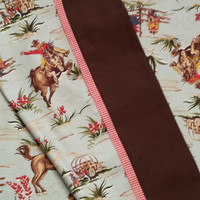 BUCKING BRONCO retro western pillowcases!