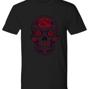 Sugar Skull T-Shirt - Day of the Dead - Dia De Los Muertos
