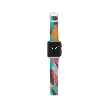"Michelle Drew ""Mountain Peaks I"" Orange Teal Apple Watch Strap"