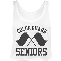 Color Guard Seniors Pride Crop: This Mom Means Business!
