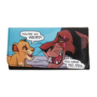 Disney The Lion King Simba & Scar Pop Art Flap Wallet
