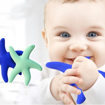 Safety Starfish Infant Chewing Baby Teether
