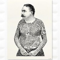 Tattoo Man Wall Art - Urban Outfitters