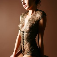 Sonata Lingerie Classic Collection, Diva, Lace Bodysuit, Designer lingerie - Honeys Lingerie Boutique