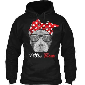 Pittie Mom  for Pitbull Dog Lovers-Mothers Day Gift Pullover Hoodie 8 oz