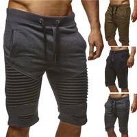 Men's Summer Casual Pleated Jogger Shorts