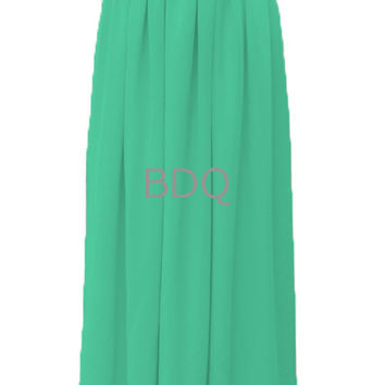 Women Skirts, Turquoise Skirts, Maxi Skirts, Long Maxi Skirts, Pleated Skirts, Chiffon Skirts, Floor Length Skirts, Bridesmaid Skirts