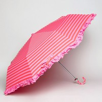 Bombay Duck Lollipops Stripy Handbag Umbrella Fuchsia and Red at asos.com