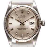 Vintage Stainless Steel Rolex Oyster Perpetual Datejust by CMT Fine Watch and Jewelry Advisors - Moda Operandi