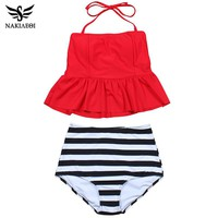 New Bikinis High Waist Swimsuit Women Tankini Bathing Suit Bikini Set Vintage Plus Size Swimwear Dress 3XL