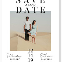 Modish Date Save The Dates | Shutterfly
