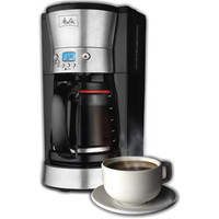 Walmart: Melitta 12-Cup Coffee Maker, 46893, Black/Stainless Steel