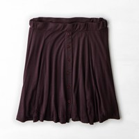 Don't Ask Why Printed Circle Skirt, Burgundy | American Eagle Outfitters