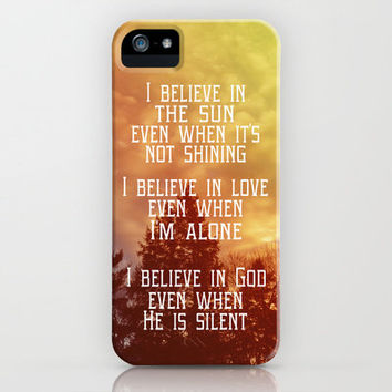 I Believe iPhone Case by Rachel Burbee | Society6