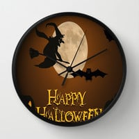 HAPPY HALLOWEEN Wall Clock by Acus