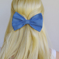 Periwinkle Hair Bow clip Periwinkle hair clip blue hair bow clip blue hair clip blue bow small hair bow medium hair bow woman teens girls