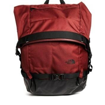 The North Face Pickford Rolltop Backpack - Red/green