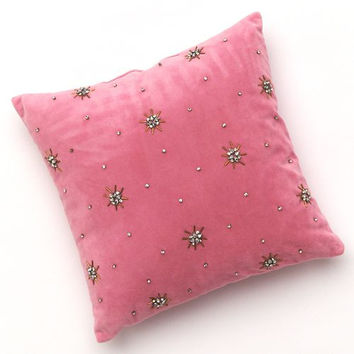 Juicy Couture Pink Embellished Princess Throw Pillow