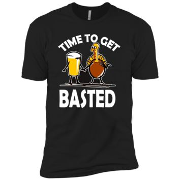 Time To Get Basted Funny Beer Thanksgiving Turkey t-shirt NL3600 Next Level Premium Short Sleeve T-Shirt