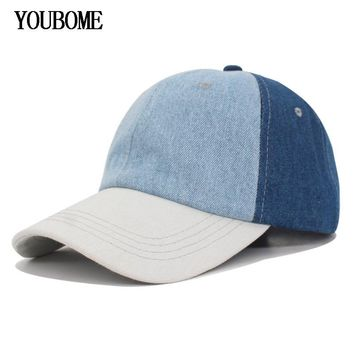Trendy Winter Jacket YOUBOME New Fashion Women Baseball Cap Hats For Men Snapback Caps Casual Sport Casquette Bone Hip Hop Denim Jeans Dad Hat Cap AT_92_12
