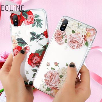 Flower Case for Xiaomi Mi a1 Mi 5X Redmi Note 4X 4A Cover for iPhone X 6 6S 7 8 Plus 5 5S SE for Samsung Galaxy A3 A5 J3 J5 2017