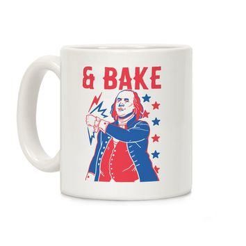 Shake & Bake: Benjamin Franklin Ceramic Coffee Mug
