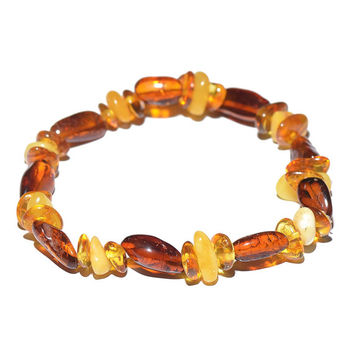 Casual Handmade Amber Bracelet for Woman - Real Stone Jewelry - Delivery from USA - Genuine Baltic Amber