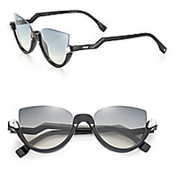 Fendi - 52MM Embellished Semi-Rimless Acetate Sunglasses - Saks Fifth Avenue Mobile