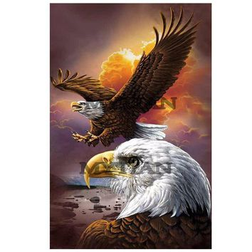 Animals Philadelphia Eagle DIY 5D Diamond Mosaic Full 3D Diamond Painting Embroidery Cross Stitch Kits wall sticker arts decor