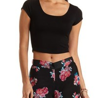 T-Back Scoop Neck Crop Top by Charlotte Russe