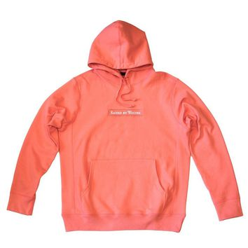 Raised By Wolves Box Logo Hooded Sweatshirt - Coral