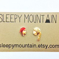 Moonrise Kingdom Earrings  Wes Anderson Sam and by SleepyMountain