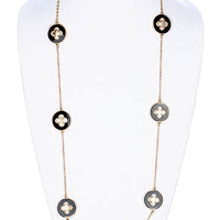 NECKLACE / LINK / METAL / EPOXY / 36 INCH LONG / NICKEL AND LEAD COMPLIANT