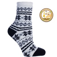 Double Layer Fuzzy Snowflake Shea Butter Infused Socks
