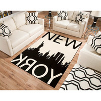 Walmart: Terra New York Rectangle Area Rug Black/White