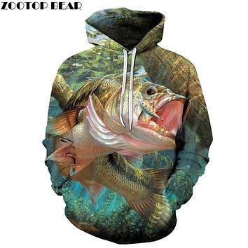 3D Fish Hoodies Sweatshirts Men Pullover Casual Tracksuits Fashion Streetwear Brand Hoodie Novelty Coats Boy Outwear Autumn New