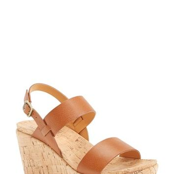 Women's Kork-Ease 'Austin' Leather Slingback Wedge Platform Sandal,