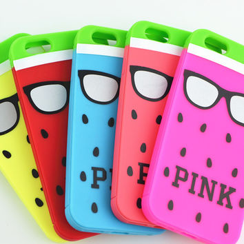 Iphone 6/6s Hot Deal Stylish Cute Hot Sale On Sale Apple Watermelon Glasses Silicone Soft Phone Case [6034054913]
