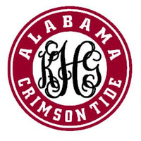Monogram Alabama Crimson Tide Decal
