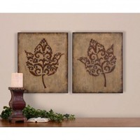 Uttermost Decorative Leaves Wall Art (Set of 2) - 13732