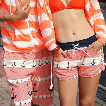 new fashion beach shorts for couples swimming big size Board Sports shorts for men and women loose lovers  traveling pants