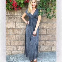 BY THE BAY MAXI- DISTRESSED BLK