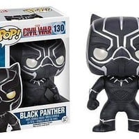 Funko Pop Marvel: Captain America Civil War - Black Panther Vinyl Figure