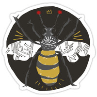 'trust in robobee' Sticker by emgrav
