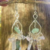 Quartz Chandeleir Earrings