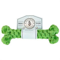 Harry Barker Small Kiwi Cotton Rope Bone Toy, Green Dog Chew Toy, Dog Tug Toy | Toad Hollow