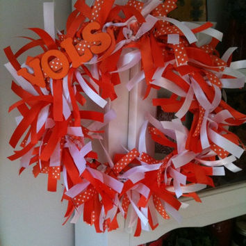 University of Tennessee VOLS Ribbon Wreath Decor