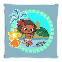 Inspired by Baby Moana 16x16 Throw Pillow Cover