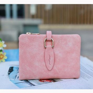 Vintage Multi-function Short Purse Vintage More Color Wallet [11491128788]